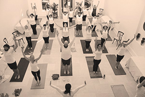 Yoga at the Left Bank Gallery, Geneva, NY